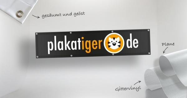 Banner auf PVC