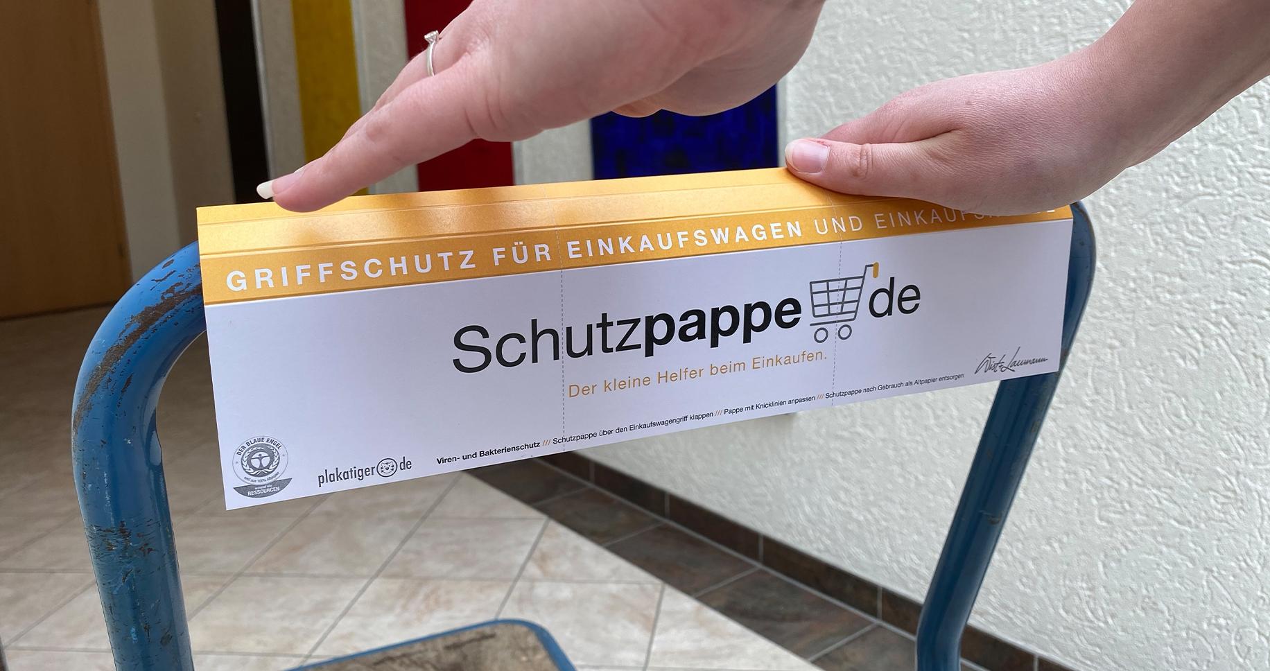 Griffpappe mit Werbedruck